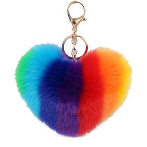 Stylish Rainbow Love Shape Bal