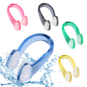 2019 Swimming Nose Clip Earplug Earplugs Suit Swim Earplugs Small Size FOR Adult Children Waterproof Soft Silicone Nose Clip