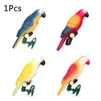 Птица светильник в виде попугая Водонепроницаемый Открытый Солнечный светодиодный светильник с зажимом для сада Газон Двор Путь орнамент ...