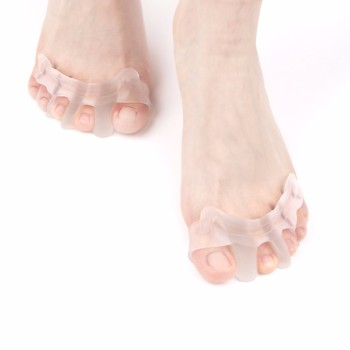Toe Orthopedic Supplies Gel Toe Separator Stretcher for Dancer Yogis Athlete Bunion Relief Hammer Claw Crooked Toes Straightener image