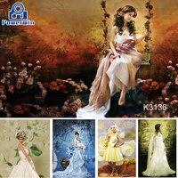 Powerwin Hand Painted 3x3 3x4 3x5 3x6m Cotton Backdrop Muslin Background Cloth Studio Photography Wedding Birthday Christmas