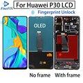 Оригинальный Oled дисплей для Huawei P30 ELE-L29 LCD сенсорный экран с рамкой 10 сенсорного экрана с replament для Huawei P 30 с ЖК-дисплеем