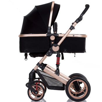 Lightweight Luxury Baby Stroller 3 in 1 Portable High Landscape Reversible Stroller Hot Mom Pink Stroller Pushchair Travel Pram 5 5kg high landscape baby stroller lightweight baby strollers foldable portable four wheel stroller baby carrier pushchair cart