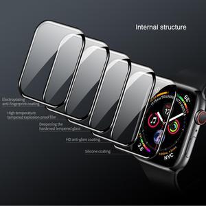 Image 4 - Dla serii iWatch 4 3 2 1 ochraniacz ekranu ze szkła Nillkin 3D AW + pełna pokrywa szkło hartowane do zegarka Apple Watch 38/40/42/44 MM