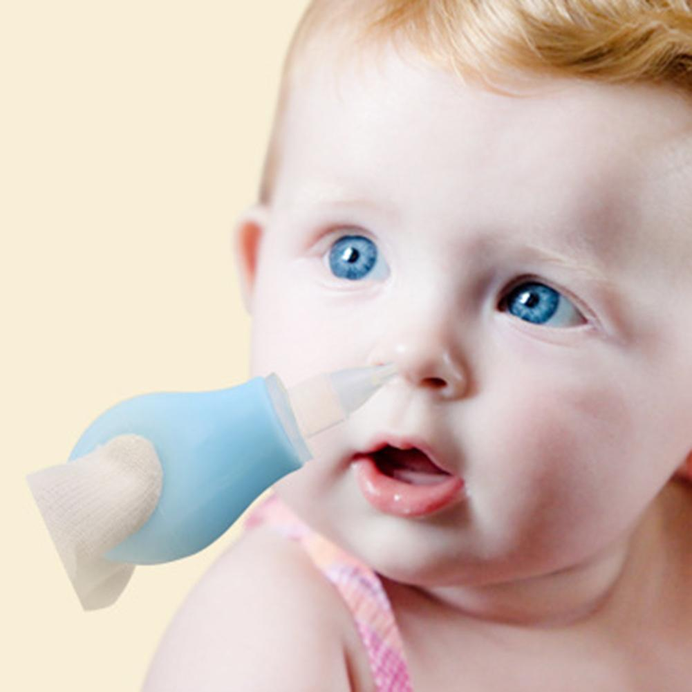 Manual Silicone Baby Nasal Aspirator Infant Suction Pump Nose Care Cleaning Tool Newborn Children Baby Care Suck Out The Snot