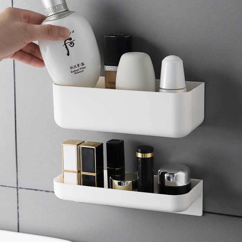 Wall Mounted Cosmetic Storage Box  Bathroom Storage Rack Wall Shelf Bathroom Organizer Shelves For Wall Shelf Makeup Organize