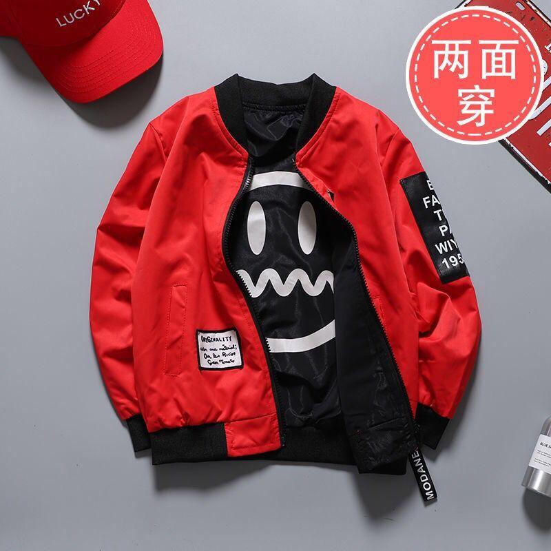 Куртка для мальчиков, новая весенняя двухсторонняя одежда для больших детей 9, 5, 7, Корейская версия 8, Детская куртка, 10, 12 лет|Куртки и пальто| | АлиЭкспресс