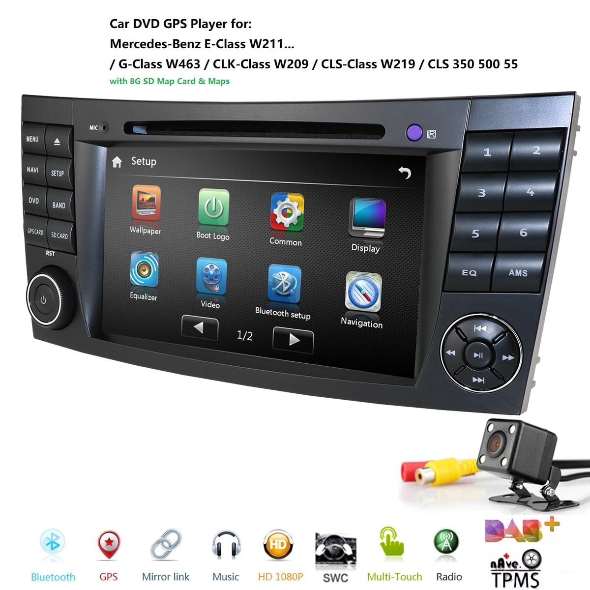 2 דין רכב נגן DVD עבור מרצדס בנץ e-class W211 E200 E220 E300 E350 E240 E270 E280 CLS כיתת W219 CANBUS SD רדיו AM/FM DTVB