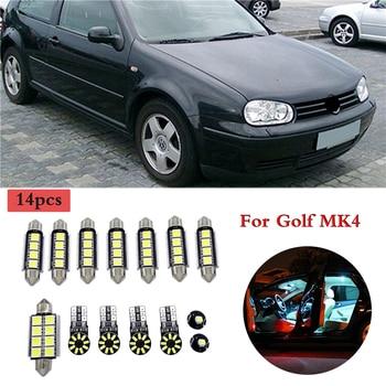 цена на 14 Pcs Error Free LED Trunk Bulb Car Interior Light LED Lamp Interior Reading Dome Light Kit for VW Volkswagen Golf MK4