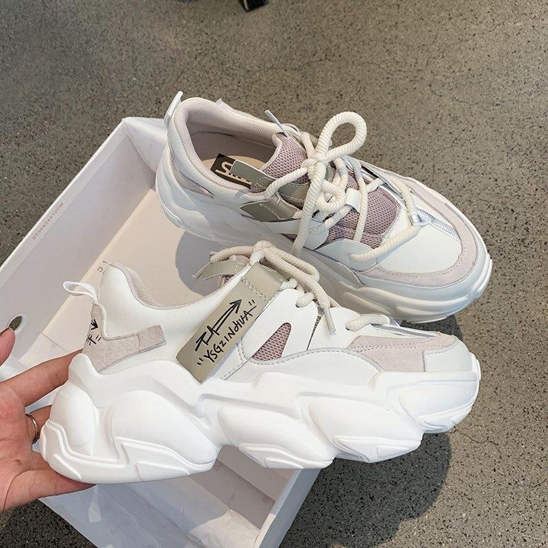 2020 Autumn Women Platform Sneakers Designers Brand Fashion Vulcanize Shoes Woman Mesh Casual Shoes Chunky Trainers Ladies 1