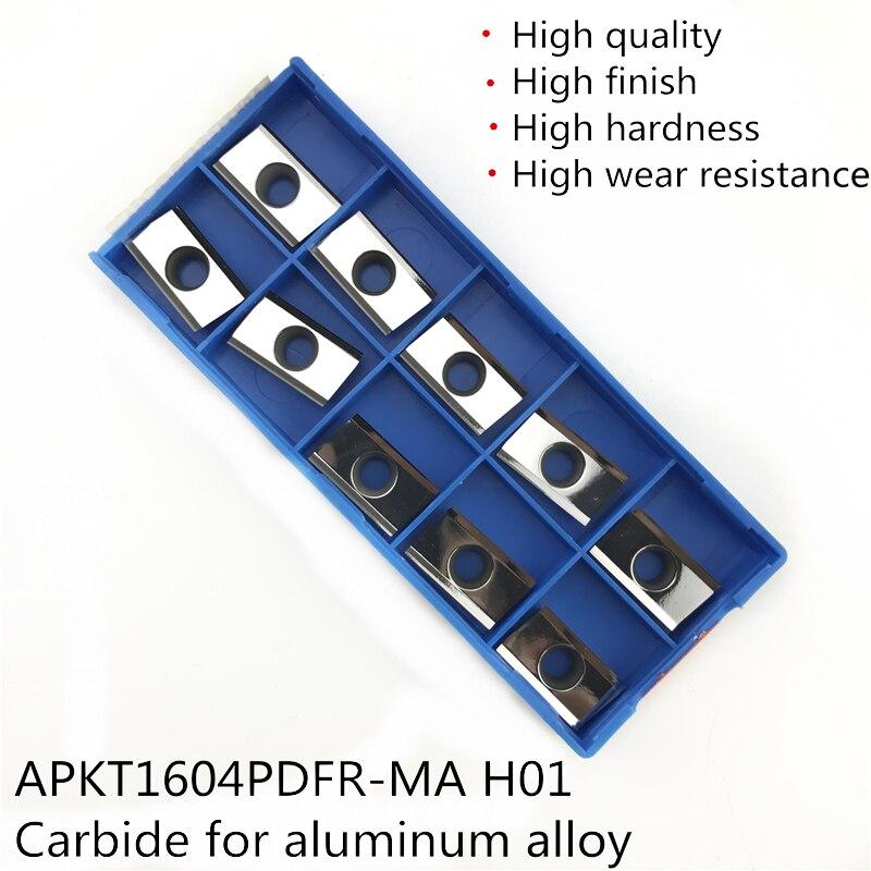 10pcs APKT1135PDFR-MA Tungsten Steel Carbide Inserts for Aluminum Lathe Blade US