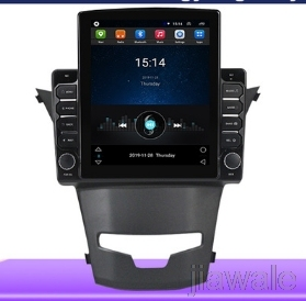 9.7 octa core tesla style vertical screen Android 10 Car radio GPS Navigation for Ssangyong Korando,New Actyon 2014-2016 image