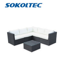 цена на SOKOLTEC High end outdoor sectional sofas teak frame patio garden furniture rattan wicker sofa sets OP2450