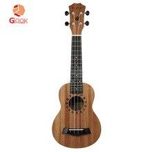 Fleor Сапеле фанера миниатюрная гитара укулеле начинающих 21-дюймового маленькая гитара для начинающих детей Для женщин Для мужчин торговля детской одежды