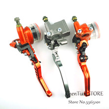 7/8 22cm Motorcycle Master Cylinder Lever Hydraulic Brake Pump Clutch Handle Handlebar Reservoir Set For HONDA For Yamaha motorcycle cable clutch hydraulic brake clutch pump master cylinder handle lever with electric contactor for stoplight with logo page 7