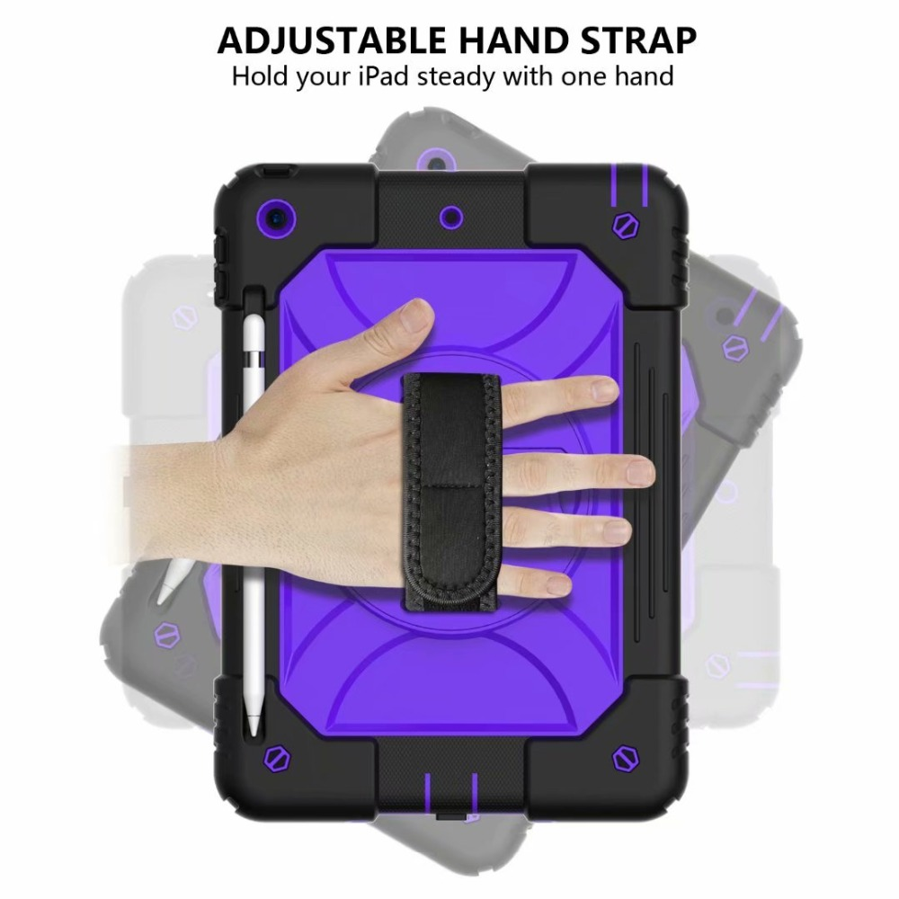 Case Hand Strap Cover Generation Holder For Pencil 7th Stand iPad For 360 Rotating iPad