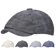 Spring Summer Thin Beret Man Breathable Women's Hat Newsboy Cap Retro Octagonal Hat