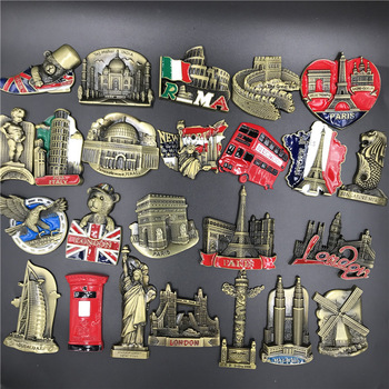 World Landmark Fridge Magnet