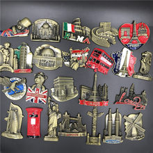 USA Alaska New York Paris Italien London Post Belgien Singapur Niederlande Israel Indien Dubai UAE Kühlschrank Magnet Souvenir(China)