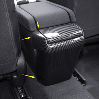 Car Styling Rear Seat Armrest Storage Box Anti Kick Protection Panel Cover Trim Fit For Honda Civic 2016 2019 Sedan