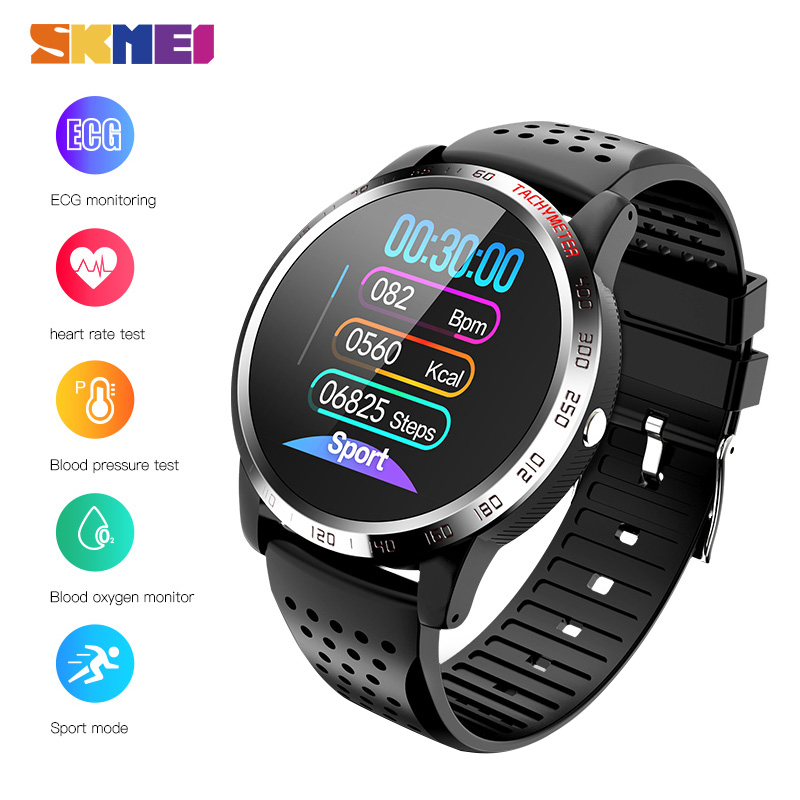 2020 SKMEI New Male Digital Wristwatches Clock Blood Pressure Oxygen Heart Rate Sleep Monitor Men's Watches Relogio Masculino W3