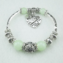 Bohemian Women Color Bracelet Colorful Beads Charm Vintage Fashion Jewelry D5.5cm Stretch  Strand Bracelets