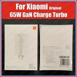 AD65G oryginalny Xiaomi Gan 65W ładowarka podróżna rodzaj USB C PD szybkie ładowanie 20V 3 25a Xiaomi Mi 10 Pro Redmi uwaga 9 Pro Max K30 Pro