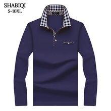 Мужская классическая рубашка поло shabiqi футболка с длинным