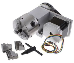 Image 3 - Nema 34 stepper motor (4:1)(K11 100mm) Chuck 100mm CNC 4th axis (A aixs, rotary axis) + Tailstock for cnc router