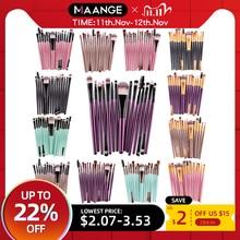 Maange Pro 15Pcs Make Up Kwasten Set Oogschaduw Foundation Poeder Eyeliner Wimper Lip Make Up Kwast Cosmetische Beauty Tool kit Hot
