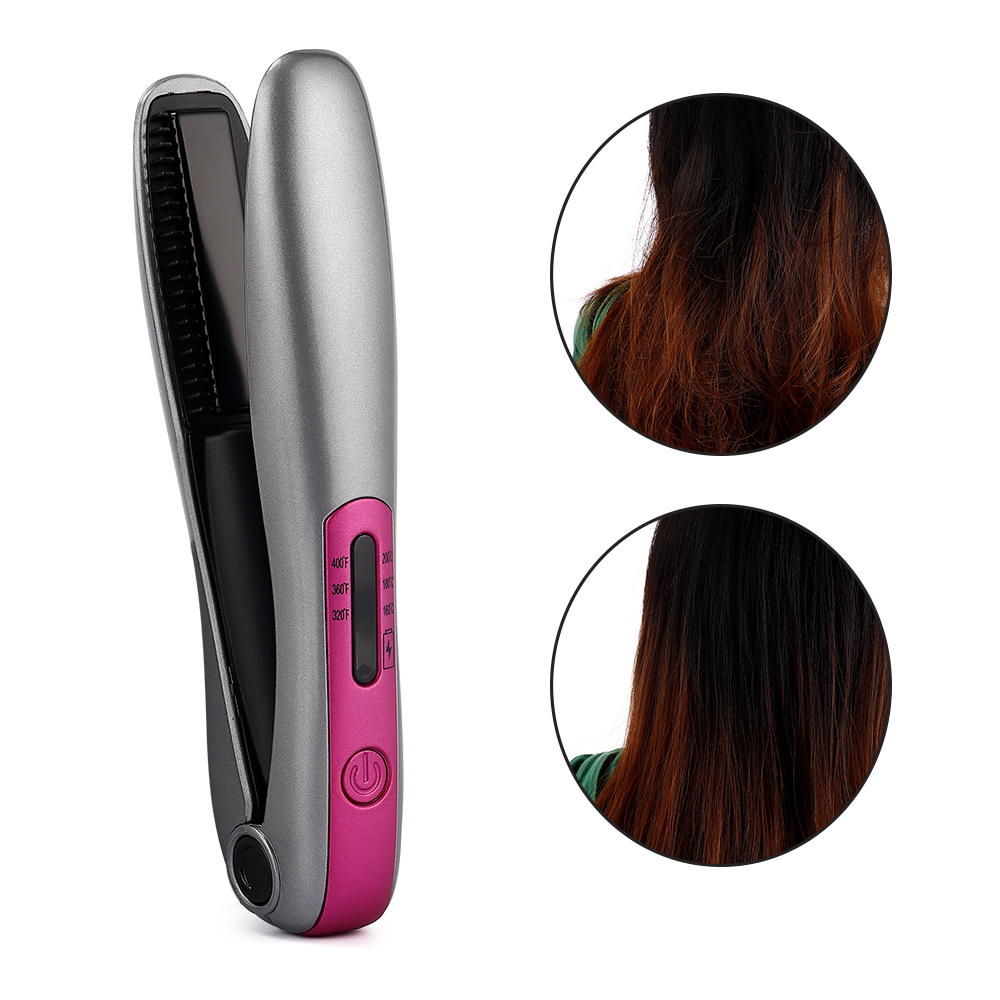 2 In 1 Mini Hair Straightening Curling Iron Hair Curler Straightener Machine Portable Hair Flat Iron Device Ceramic Styling Tool