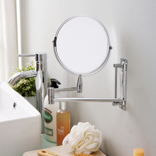 ORZ настенное зеркало, двустороннее косметическое зеркало для макияжа в ванной, для бритья, Rotatalbe, 7 дюймов, 3X увеличительное зеркало