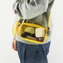 Trend Japanese PVC Grid Transparent Bag Women's Bag 2021 New Handbags Student Messenger Bag Bolsas