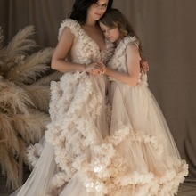 Dressing-Gown Maternity-Robes Me And for Daughter Photography Tulle Extra-Puffy Mommy