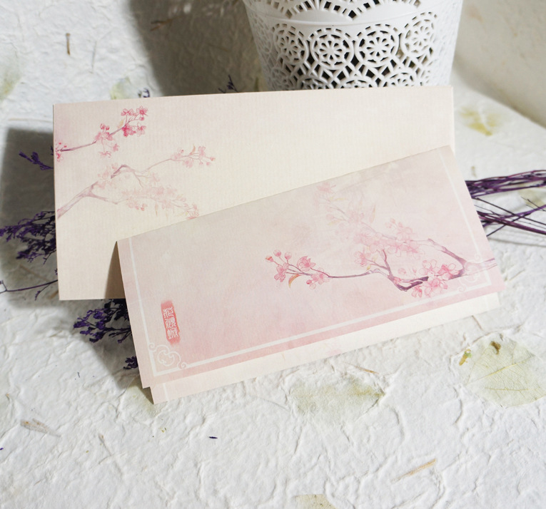 Antique Style Writing Paper Classical Chinese-style Beautiful 16 Open Writing Paper No. 5 Western Envelop Package Flower Of Allu