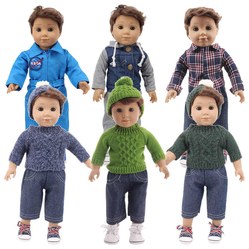 Logan Boneka Sweater Mantel gaya Barat Pakaian untuk 18 Inch Amerika & 43 Cm Lahir Generasi Ulang Tahun Gadis Anak Mainan hadiah