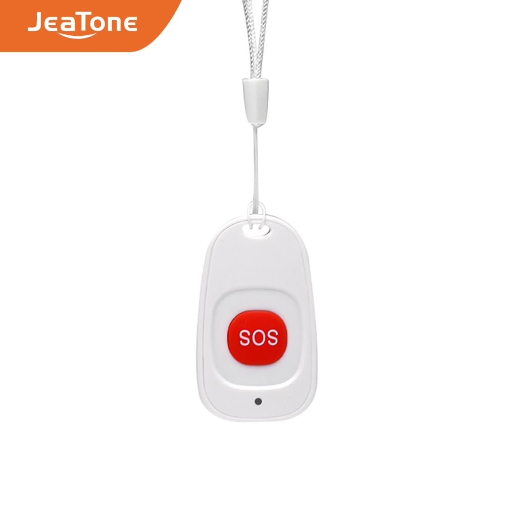 JeaTone Wireless SOS Emergency Panic Button For Elderly Alarm Sensor Home Burglar Alarm 433MHz For PS85 Security Alarm System