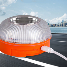 LED V16 Traffic Safety Warning Lights LED Work Lamp Outdoor Lighting Car Emergency SOS Lights Magnetic Car Beacon Lights Chargab