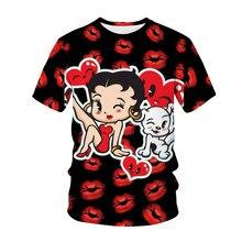Cut Cartoon Women tshirts men Anime 3D T-shirt Girls Manga Printing t-shirt for men Summer Lady Short Sleeved Tops Casual Female