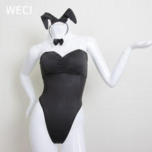 WECI Sexy Bunny Girl Outfit Reverse Body Suit Cosplay Rabbit Costume For Girls Bunny Lingerie Cute Sex Set Bad Hare Tail Elf Ear