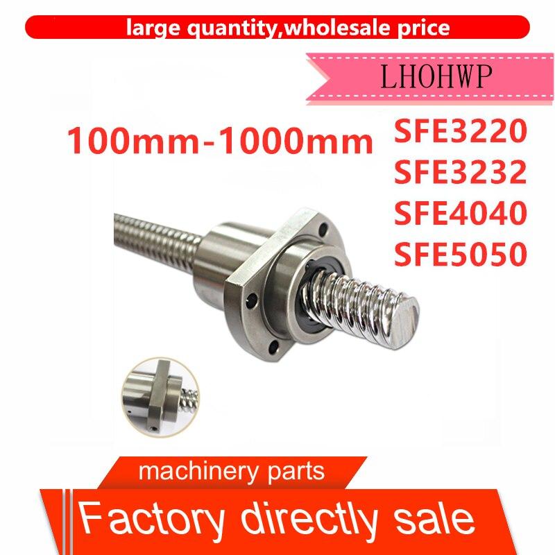 SFE3220/SFE3232/SFE4040/SFE5050 Vite di comando grande Sfe 100mm-1000Mm BKBF elaborazione final 1 adet + 1 adet singolo dado