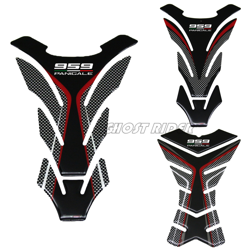 Color : A yhfhaoop 3D Resin Motorcycle Tank Pad Protector Case Corse Decals for Ducati 959 Panigale hnyhf
