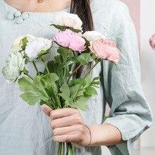 Ramo de novia de franela de rosas artificiales Vintage, decoración de boda, fiesta, hogar, decoración para el hogar, boda, decoración interior