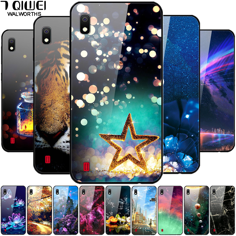 For <font><b>Samsung</b></font> <font><b>A10</b></font> <font><b>Case</b></font> <font><b>Glass</b></font> Tempered Phone <font><b>Cases</b></font> Hard Back Cover For <font><b>Samsung</b></font> Galaxy <font><b>A10</b></font> Coque A80 A90 A50S A30S A6 2018 image
