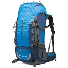 BOWTAC Travel Mountaineering Bag 60L Large Capacity Men Women Nylon Waterproof Belt Rain Cover Hiking Camping Outdoor Backpack