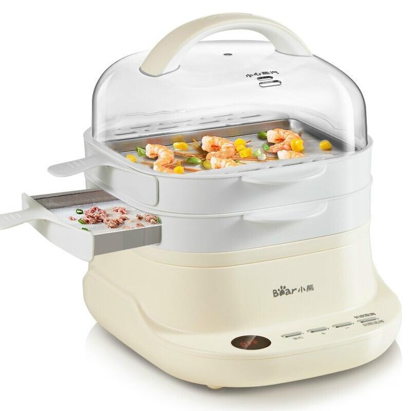 Электрический Пароварка отпариватель для еды тип ящика для приготовления пищи машина для порошка кишки белый цвет паровой колбасы