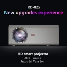 Rigal RD-825 Android Projector LED 2000 Lumens 1280x7201080P HD Multi-Functional