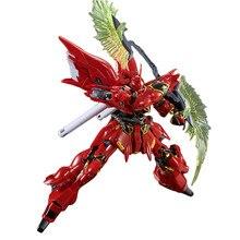 Bandai RG 1/144 Gundam MSN-06S Sinanju – équipement d'arme, pièces d'extension, assemblage, modèle animé, jouet assemblé, Figma