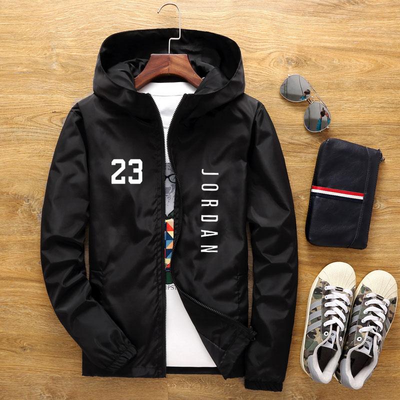 Men's Jacket Spring Fall Fashion 23 Print Slim Top Men's Casual Baseball Bomber Zipper Jacket Men's Jacket Large Size 6XL