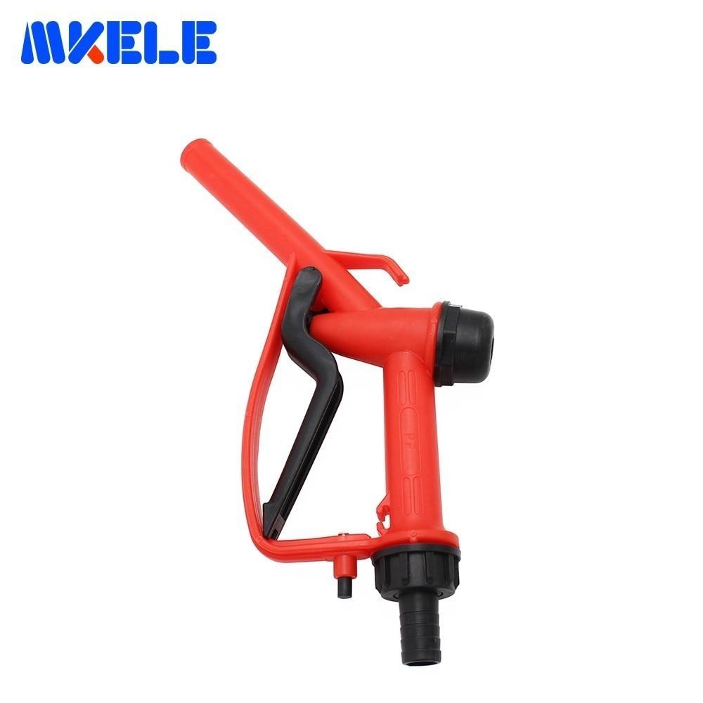 Plastic Manual Refueling Gun Gasoline Diesel Oil Filling Pump Self-flow Refueling Gun Refueling Oil Pump (Random Color)